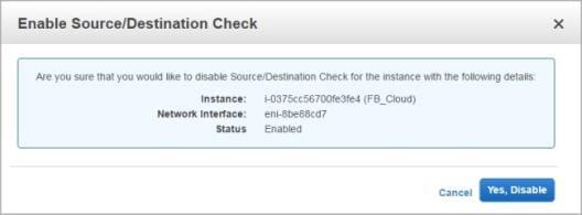 Comment désactiver les contrôles source et destination sur vos interfaces réseaux d'instance AWS