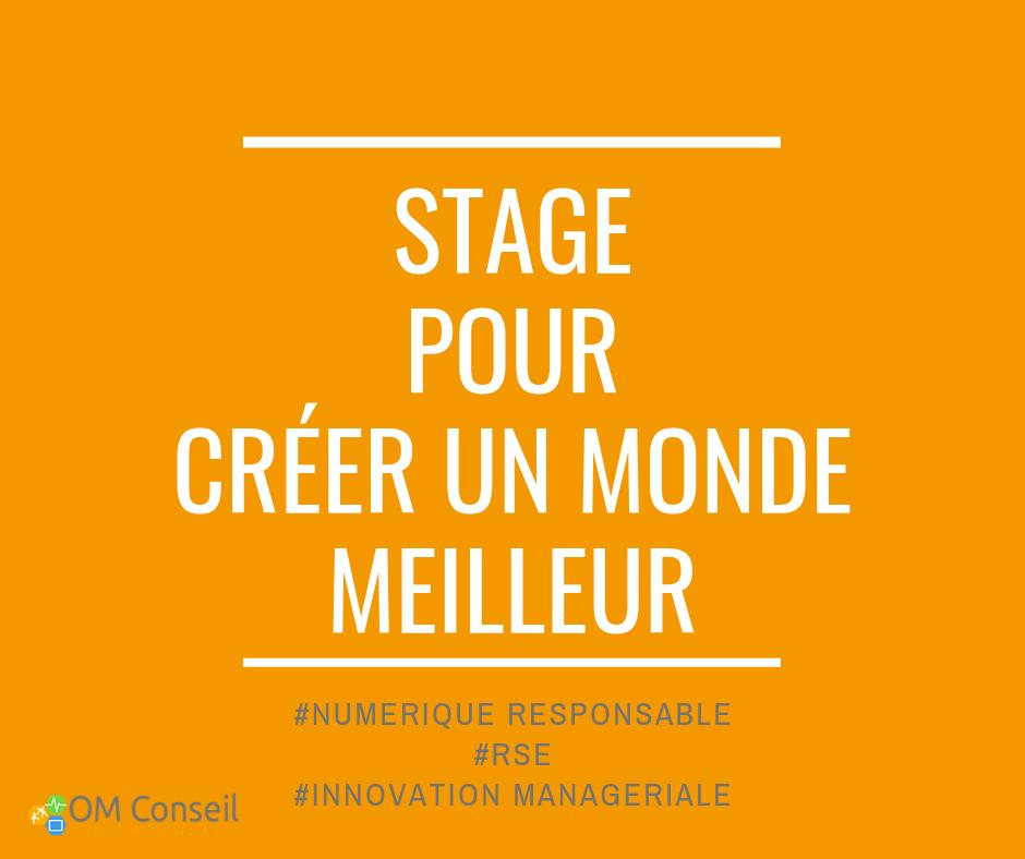 Stage pour créer un monde meilleur