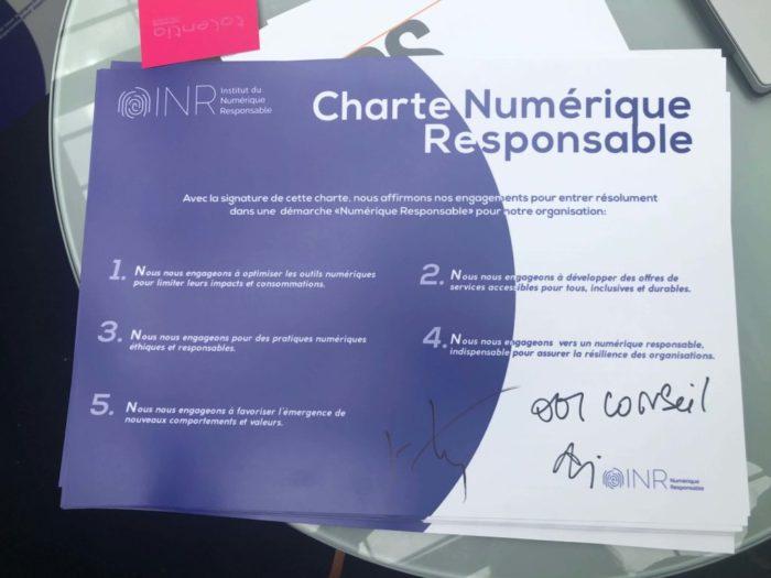Charte Numérique Responsable de l'INR