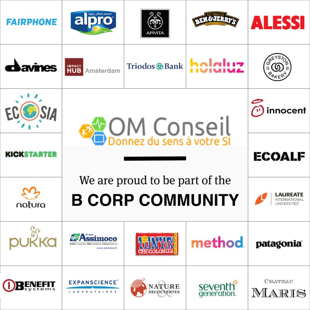 Logos des entreprises françaises certifiées B Corp